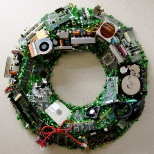 Computer Hardware Christmas Wreath