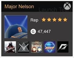 Major Nelson's new Gamercard