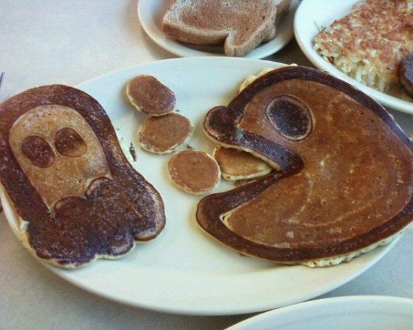 Pac-man Pancakes