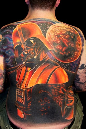 Darth Vader Full Back Tattoo