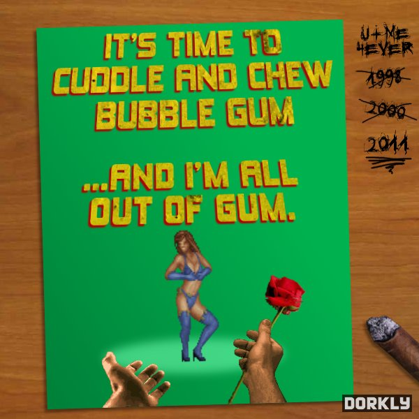Duke Nukem Valentines Day Card