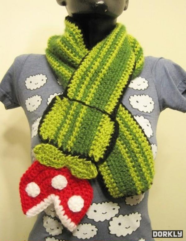 Super Mario Bros Piranaha Flower scarf