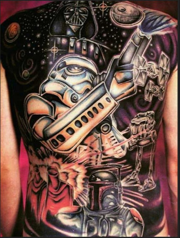 Star Wars Full Back Tattoo