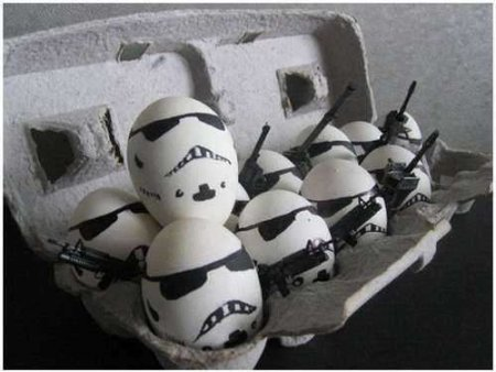 Star Wars Stormtropper eggs