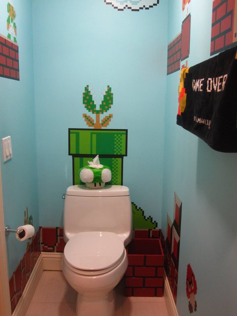 Super Mario Bros Bathroom Edition