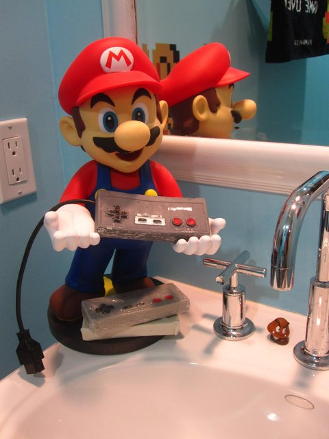 Super Mario Bros Bathroom Edition