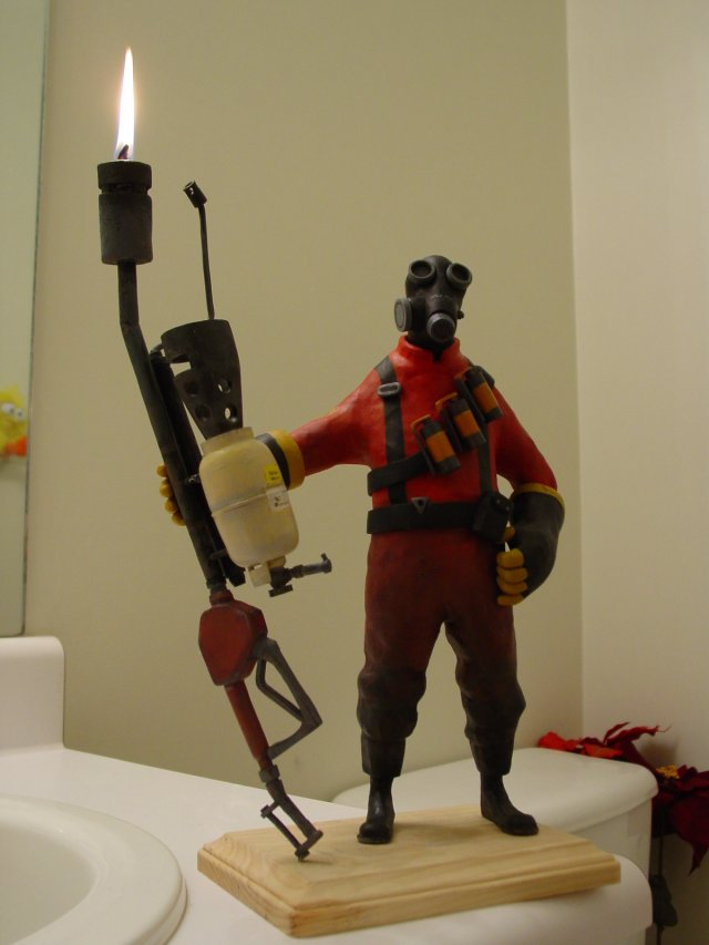 Team Fortress 2 Pyro candle