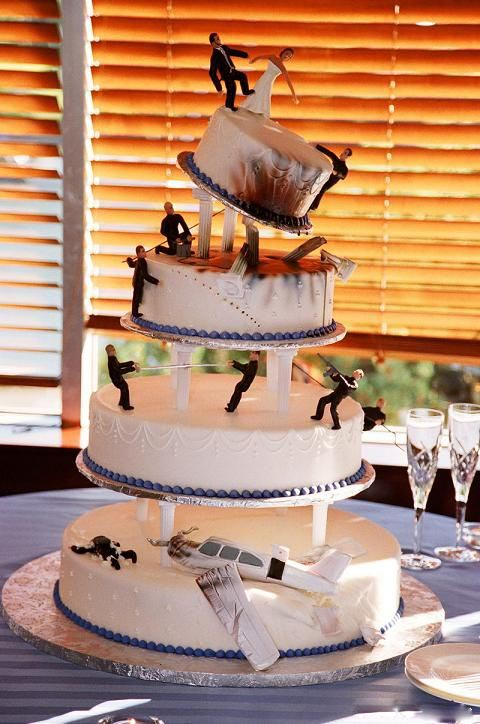 Action Movie Wedding Cake