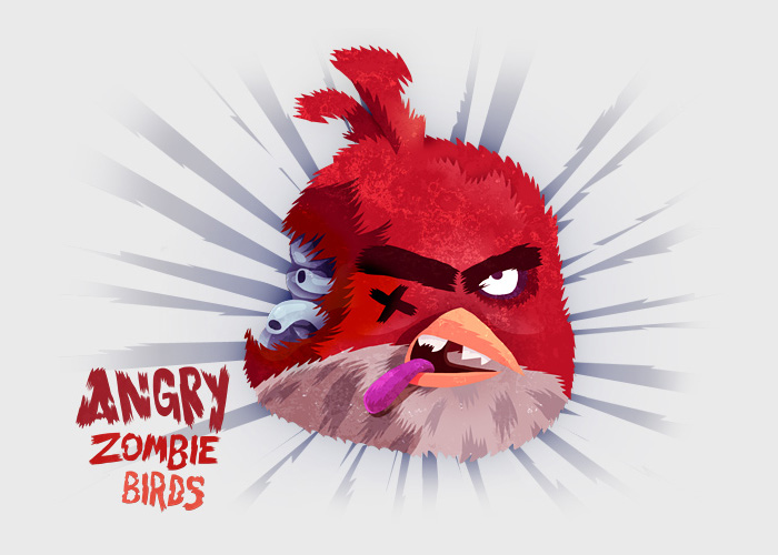 Red Zombie Angry Bird