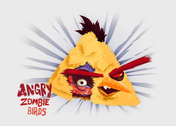 Yellow Angry Bird Zombie