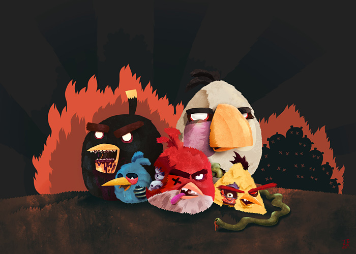 Angry Zombie Birds Group Photo