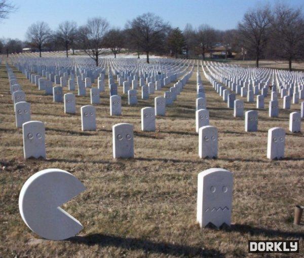 Pac-man ghost graveyard