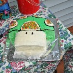 Super Mario Bros 1-Up Mushroom Cake