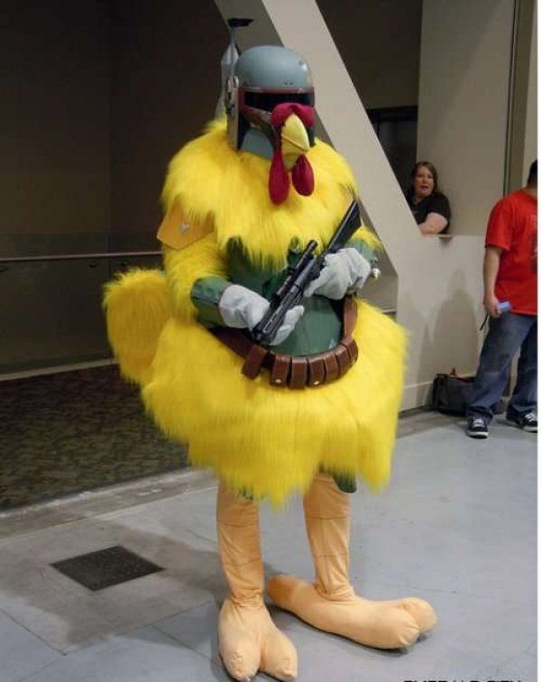 Boba Fett Chicken Cosplay