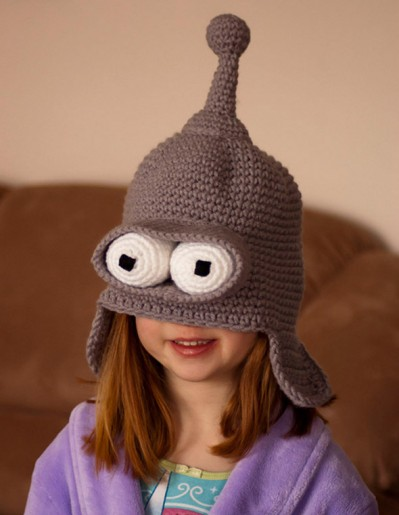 Futurama Bender Crochet Hat