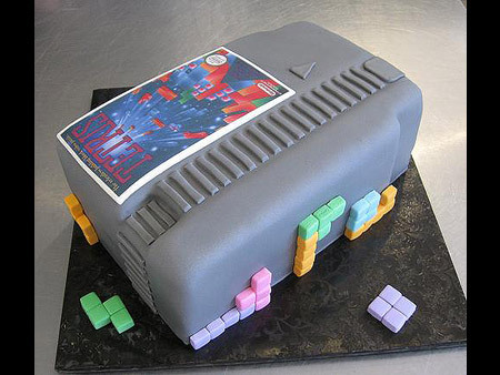 NES Tetris Game Cartridge Cake