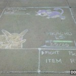 Pokemon battle sidewalk art [pic]