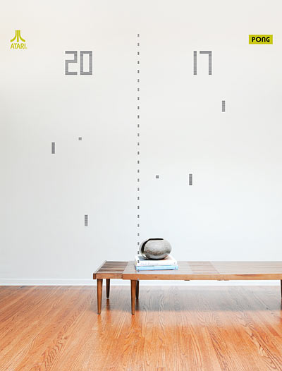 Atari Pong Wall Stickers