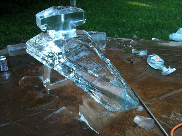 Star Wars Imperial Star Destroyer ice luge