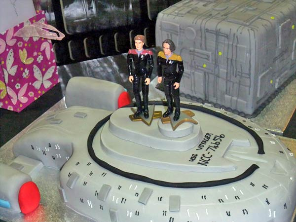 Star Trek Voyager Wedding Cake