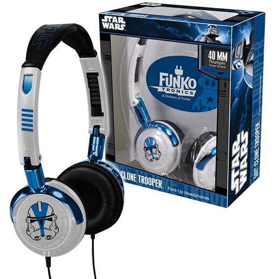 Star Wars 501st Clone Trooper fold-up headphones
