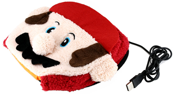 Mario USB powered hand warming mousepad