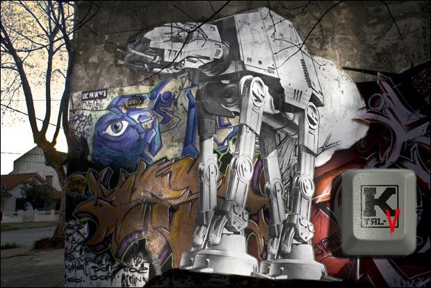 Star Wars AT-AT Street Art