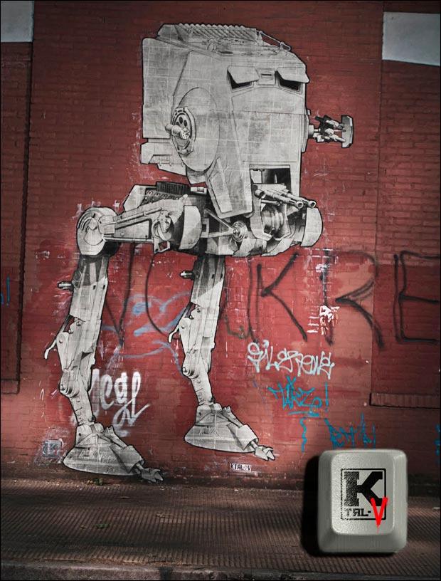 Star Wars AT-ST Street Art