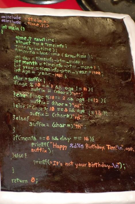 Code Birthday Cake
