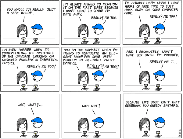 Geeks on a blind date