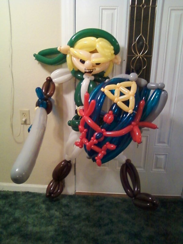 Legend of Zelda Link balloon animal