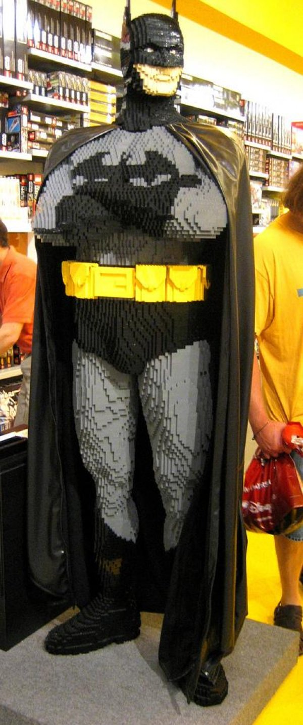 Life-sized LEGO Batman