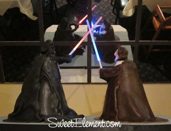 Obi Wan vs Darth Vader cake
