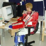 Optimus Prime is a computer nerd [pic]