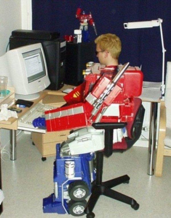Optimus Prime Computer Nerd