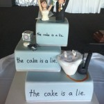 The Portal wedding cake: The cake is a lie [pic]