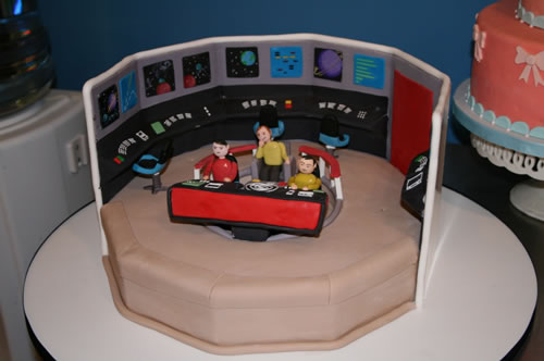 Star Trek TOS Enterprise Bridge Cake