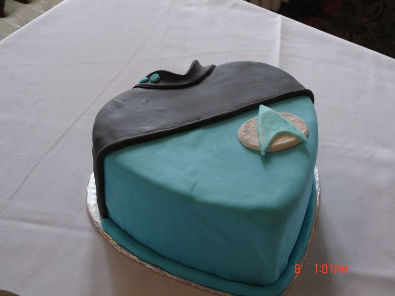 Star Trek Uniform Birthday Cake