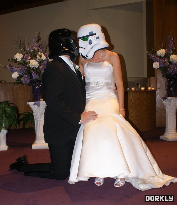 Star Wars Stormtrooper wedding