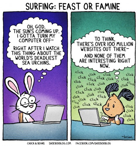 Web Surfing: Feast or Famine