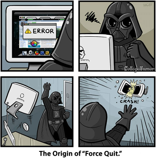 Darth Vader invents Mac OS X's Force Quit feature