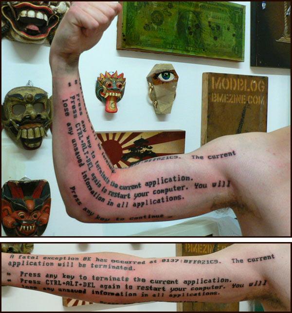 BSOD Tattoo