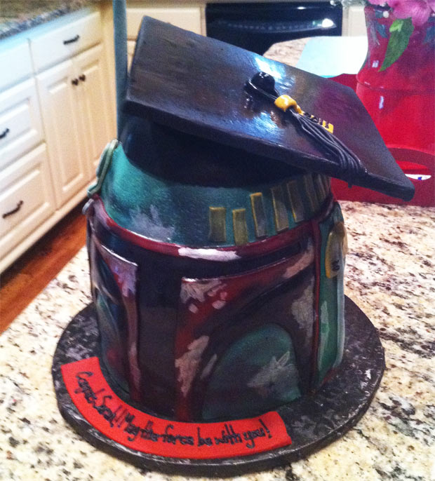 Star Wars Boba Fett Graduation Cake
