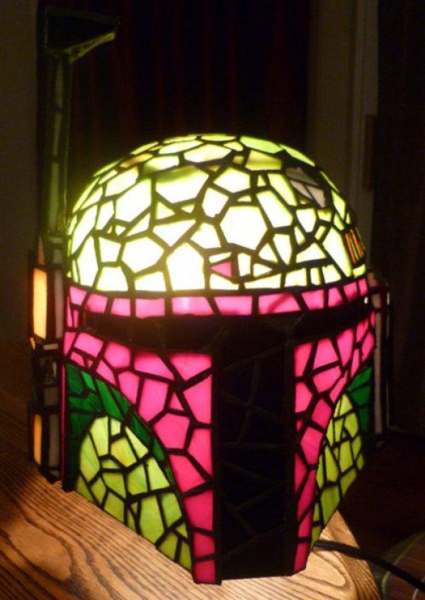 Boba Fett Helmet Tiffany Lamp