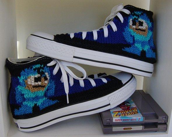 Mega Man Knit Converse Chuck Taylor Sneakers