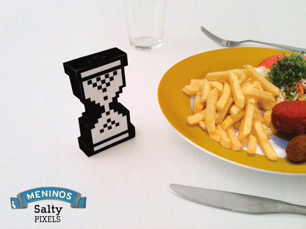 Pixelated Salt Shaker