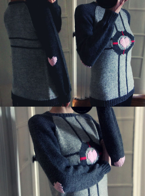 Portal Companion Cube Knitted Sweater