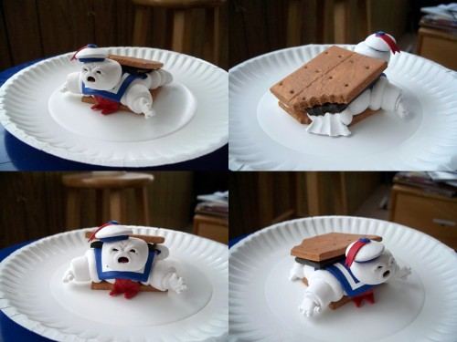 Stay Puft Marshmallow Man S'more