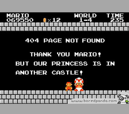 Super Mario Bros 404 error