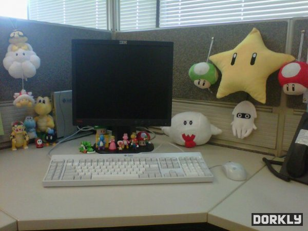 Super Mario Bros cubicle